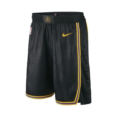 Los Angeles Lakers Nike City Edition Swingman Men's NBA Shorts