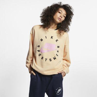 Nike Sportswear NSW női francia frottír kerek kivágású pulóver
