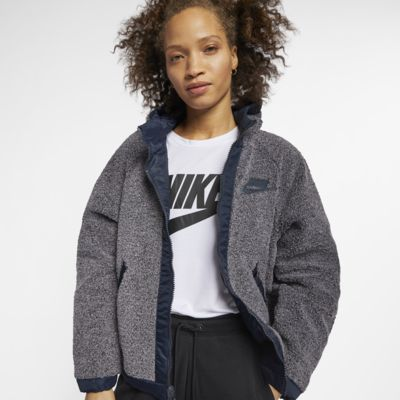Nike Sportswear NSW Sherpa vendbar jakke til dame