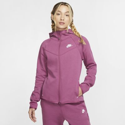 Nike Sportswear Windrunner Tech Fleece Tam Boy Fermuarlı Kadın Kapüşonlu Üst