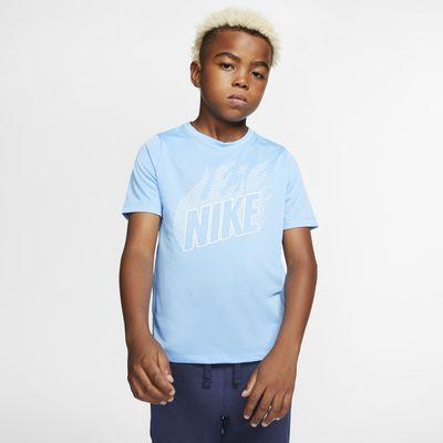 เสื้อเทรนนิ่งแขนสั้นเด็กโตมีกราฟิก Nike (ชาย)