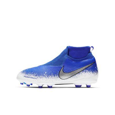 Fotbollssko för varierat underlag Nike Jr. Phantom Vision Elite Dynamic Fit MG för ungdom