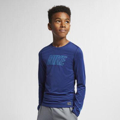 Nike Pro – langærmet træningsoverdel til store børn (drenge)