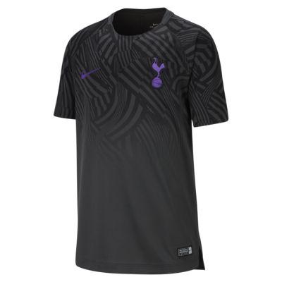 Fotbalové tričko Nike Dri-FIT Tottenham Hotspur Squad s krátkým rukávem a grafickým motivem pro větší děti