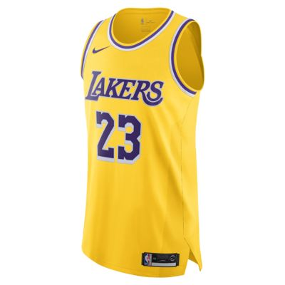 LeBron James Icon Edition Authentic (Los Angeles Lakers) Nike NBA Connected Trikot für Herren