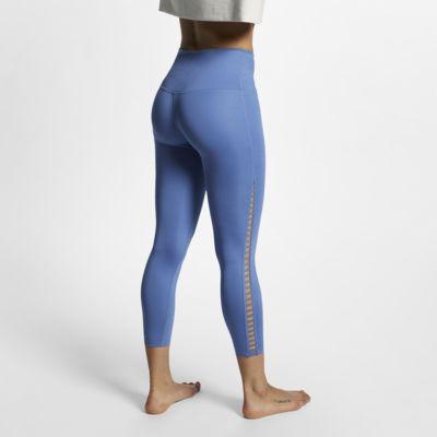 กางเกงเทรนนิ่งรัดรูปโยคะผู้หญิง 7 ส่วน Nike Dri-FIT Power