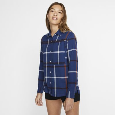 Långärmad vävd tröja Hurley Wilson Flannel för kvinnor