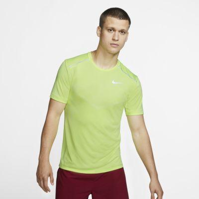Nike TechKnit Ultra-kortærmet løbeoverdel til mænd