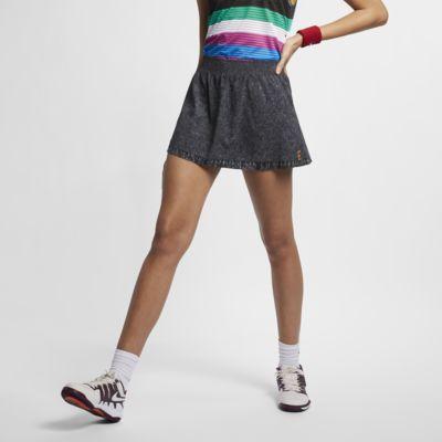 NikeCourt Dri-FIT Slam-tennisnederdel med print til kvinder