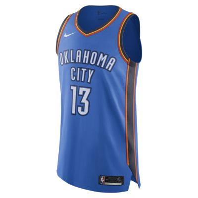 Paul George Icon Edition Authentic Jersey (Oklahoma City Thunder) Men's Nike NBA Connected Jersey