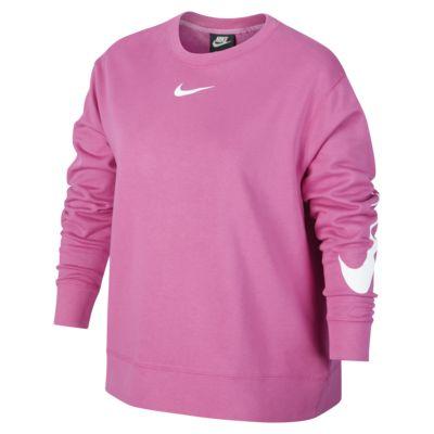 Nike Sportswear Swoosh Women's Long-Sleeve French Terry Crew (Plus Size)