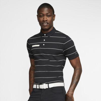 Nike Dri-FIT Player stripet golfskjorte til herre