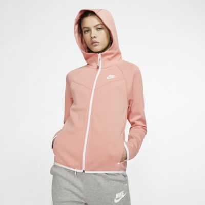 Huvtröja Nike Sportswear Windrunner Tech Fleece med hellång dragkedja för kvinnor