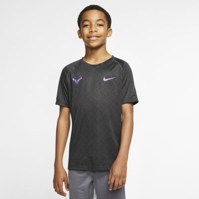 NikeCourt Dri-FIT Rafa Tennisshirt met graphic voor jongens
