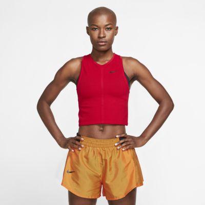 Γυναικείο φανελάκι για τρέξιμο από διχτυωτό υλικό Nike Dri-FIT