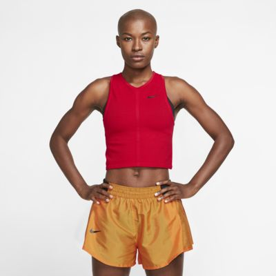 Damska siateczkowa koszulka bez rękawów do biegania Nike Dri-FIT