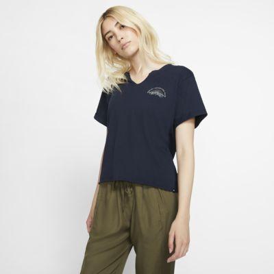 Hurley Adventure Club Kort damesshirt met ronde hals en korte mouwen