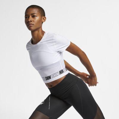 Nike Pro Women's Short-Sleeve Crop Top