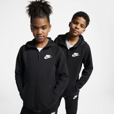 Nike Sportswear Tech Fleece Jacke mit durchgehendem Reißverschluss für ältere Kinder