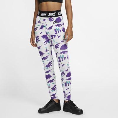 Højtaljede Nike Sportswear-leggings med print til kvinder
