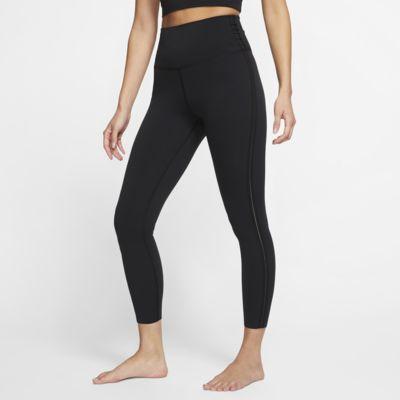 Damskie legginsy metaliczne 7/8 Nike Yoga Luxe