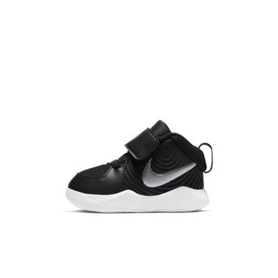 Купить Кроссовки для малышей Nike Team Hustle D 9, Черный/Темно-серый/Белый/Серебристый металлик, 22886004, 12550732
