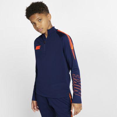 Nike Dri-FIT Squad fotballtreningsoverdel til store barn