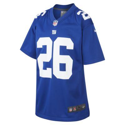 NFL New York Giants Game Jersey (Saquon Barkley) American Football Trikot für ältere Kinder