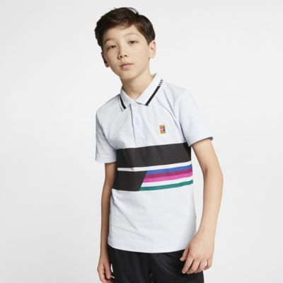 Tennispikétröja NikeCourt Advantage för ungdom (killar)