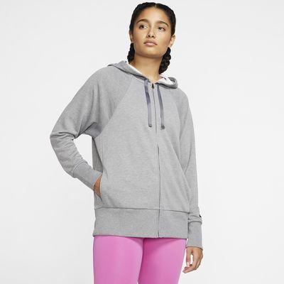 Dámská flísová tréninková mikina Nike Dri-FIT Get Fit s kapucí a zipem po celé délce