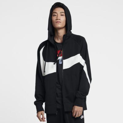 Nike Sportswear hosszú cipzáras férfi francia frottír kapucnis pulóver