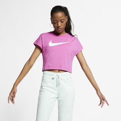 Nike Sportswear Croptop met korte mouwen en Swoosh voor dames