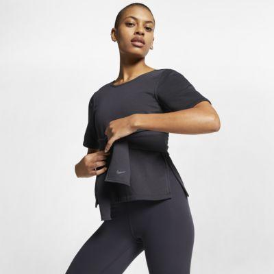 Haut de training de yoga à manches courtes Nike Studio pour Femme