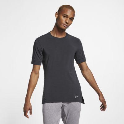 Kortärmad yogatröja Nike Dri-FIT för män