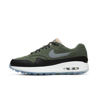 Купить Мужские кроссовки для гольфа Nike Air Max 1 G NRG, Рабочий хаки/Черный/Белоснежный/Холодный серый, 24185459, 12800253