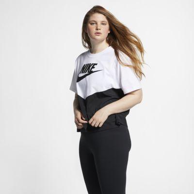 Kortærmet Nike Sportswear Heritage-overdel (plusstørrelse) til kvinder