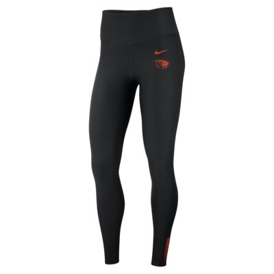 Nike College Power Sculpt (Oregon State) Women's High-Rise Training Tights
