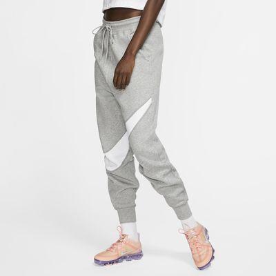 Calças de lã cardada Nike Sportswear Swoosh para mulher