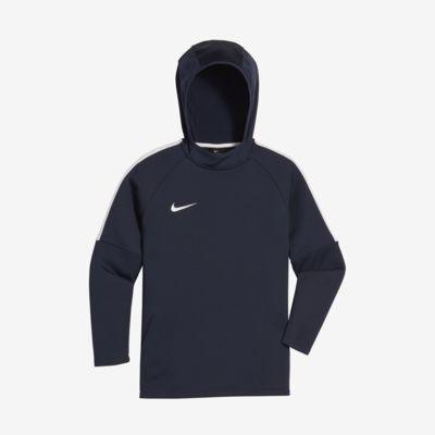 Ποδοσφαιρική μπλούζα με κουκούλα Nike Dri-FIT Academy για μεγάλα αγόρια