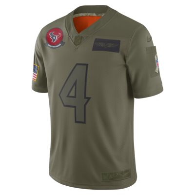 NFL Houston Texans Limited Salute To Service (Deshaun Watson) Men's Football Jersey