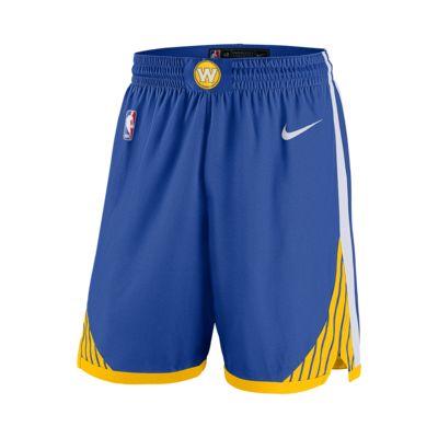 Short de NBA Golden State Warriors Nike Icon Edition Swingman pour Homme