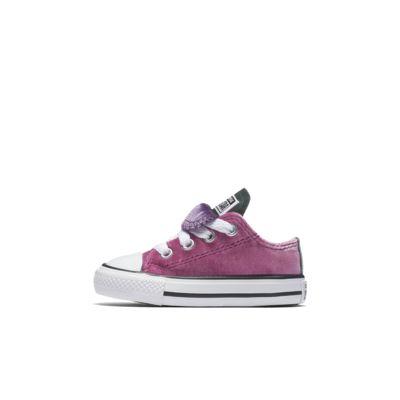 Converse Chuck Taylor All Star Double Tongue Velvet Low Top Infants' Shoe