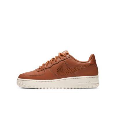 Nike Air Force 1 Premium Embroidered Genç Çocuk Ayakkabısı