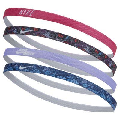 Nike Kid's Printed Headbands (4 Pack)