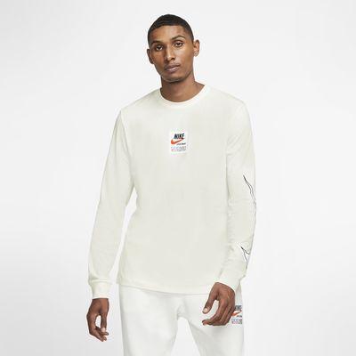 Pánské tričko s dlouhým rukávem a potiskem Nike Sportswear