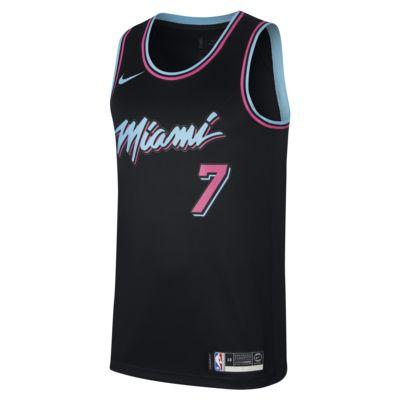 迈阿密热火队 (Goran Dragic) City Edition Swingman Nike NBA Connected Jersey 男子球衣