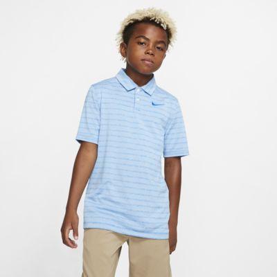 Polo de golf a rayas para niño Nike Dri-FIT