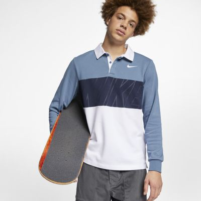 Nike SB Dri-FIT Langarm-Skateboard-Poloshirt für Herren