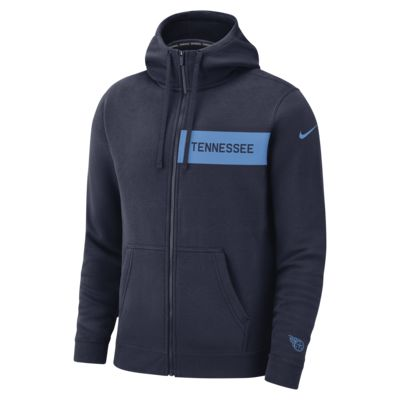 Fleecehuvtröja med dragkedja Nike (NFL Titans) för män
