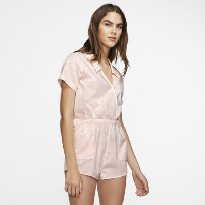 Hurley Domino Women's Short-Sleeve Romper